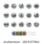 summer vacations icons    metal ... | Shutterstock .eps vector #1819157861