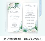 wedding program and ceremony... | Shutterstock .eps vector #1819169084