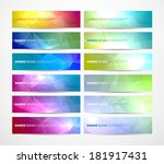 collection of vector abstract... | Shutterstock .eps vector #181917431