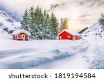 Dramatic Winter Scenery With...