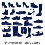silhouette vector icon set of... | Shutterstock .eps vector #181922051