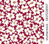 seamless pattern of a flower... | Shutterstock .eps vector #1819228547