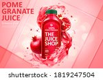 pomegranate juice ad in 3d... | Shutterstock .eps vector #1819247504