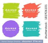 set of hand drawn flat grunge... | Shutterstock .eps vector #181926101