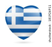 heart with greek flag colors. i ... | Shutterstock .eps vector #181926911