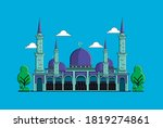 islamic mosque building flat... | Shutterstock .eps vector #1819274861