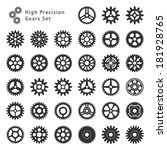 set of 33 gears made with high... | Shutterstock .eps vector #181928765