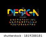 stylized design alphabet font... | Shutterstock .eps vector #1819288181
