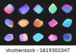 liquid holographic chameleon... | Shutterstock .eps vector #1819302347