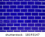 Blue ceramic wall tiles background. - stock photo