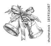 christmas bells hand drawn... | Shutterstock .eps vector #1819316387