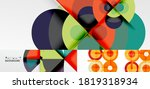 set of abstract backgrounds for ... | Shutterstock .eps vector #1819318934