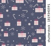 seamless pattern with christmas ... | Shutterstock .eps vector #1819340591