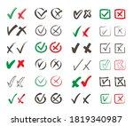 rosses heck marks set. choosing ...   Shutterstock .eps vector #1819340987