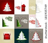 set of  merry christmas and...   Shutterstock .eps vector #181935749