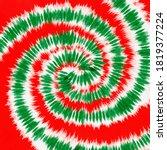 Tie Dye Red Green Christmas ...