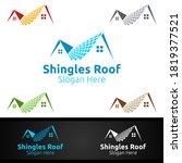shingles roofing logo for... | Shutterstock .eps vector #1819377521