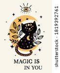 poster with magic eye  and ... | Shutterstock .eps vector #1819392761