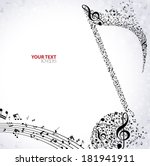 music. treble clef and notes... | Shutterstock .eps vector #181941911