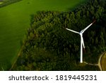 Windmills On The Background Of...