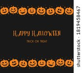 halloween greeting card with... | Shutterstock .eps vector #1819458467