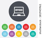 byod sign icon. bring your own... | Shutterstock .eps vector #181945961