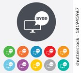 byod sign icon. bring your own... | Shutterstock .eps vector #181945967
