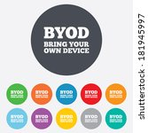 byod sign icon. bring your own... | Shutterstock .eps vector #181945997