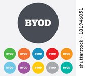 byod sign icon. bring your own... | Shutterstock .eps vector #181946051