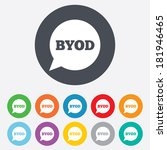 byod sign icon. bring your own... | Shutterstock .eps vector #181946465