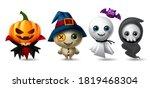 halloween character vector set. ... | Shutterstock .eps vector #1819468304