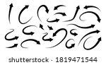 black arrows collection....   Shutterstock .eps vector #1819471544