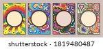 psychedelic floral backgrounds...   Shutterstock .eps vector #1819480487