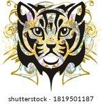 cat head symbol colorful... | Shutterstock . vector #1819501187