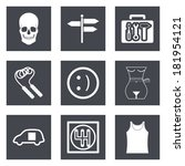 icons for web design and mobile ... | Shutterstock .eps vector #181954121