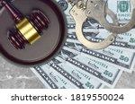 50 Us Dollars Bills And Judge...