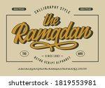 original brush script font ...   Shutterstock .eps vector #1819553981