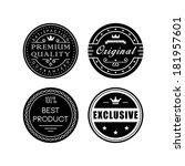 retro labels | Shutterstock .eps vector #181957601