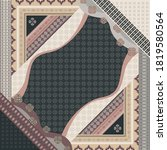 scarf pattern with ethnic... | Shutterstock .eps vector #1819580564