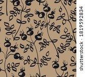 dog rose seamless vector...   Shutterstock .eps vector #1819592834