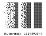 rectangle disintegration into... | Shutterstock .eps vector #1819593944