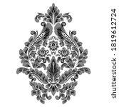 vector damask element. isolated ...   Shutterstock .eps vector #1819612724