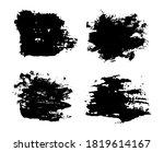 abstract black brush stroke... | Shutterstock .eps vector #1819614167