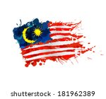 malaysian flag made of colorful ...