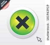 delete sign icon. remove button....