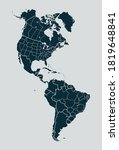 outline map of america with...   Shutterstock .eps vector #1819648841