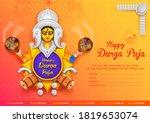 illustration of goddess durga... | Shutterstock .eps vector #1819653074