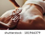 close up of masseur's hands and ... | Shutterstock . vector #181966379