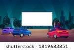 open air car cinema theater... | Shutterstock .eps vector #1819683851