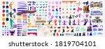 collection of halloween... | Shutterstock .eps vector #1819704101
